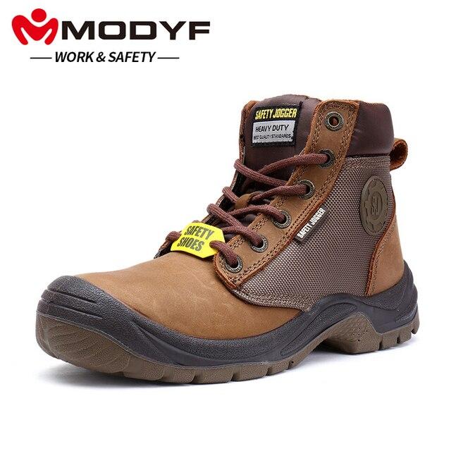 MODYF mężczyźni pracują buty ochronne stalowe Toe buty wodoodporne antypoślizgowe wielofunkcyjny odkryty odporne na przebicie obuwie ochronne