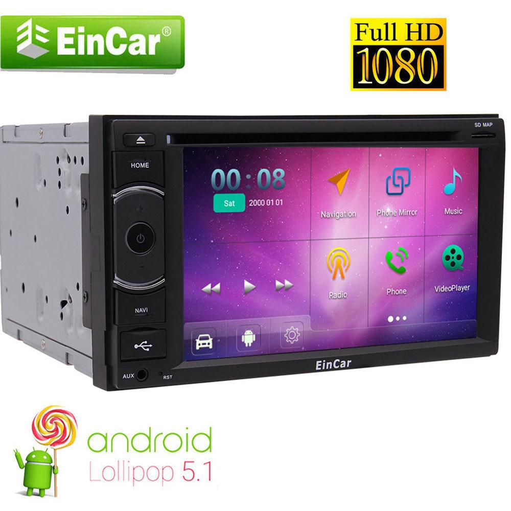8-core двойной 2 DIN стерео Android 5.1 HD DVD плеер Радио GPS Nav Bluetooth