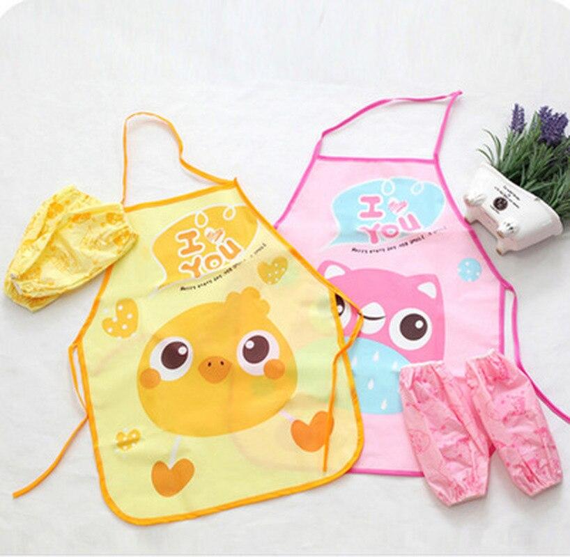 1 Set Kinder Schürze Ärmeln Kinder Malerei Küche Kochen Wasserdichte Schutz