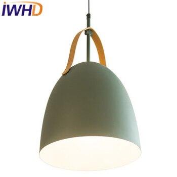 IWHD LED Modern Kolye Lamba Moda Demir Asılı Işıklar Oturma Odası Mutfak Armatür Suspendu Ev Aydınlatma Armatürleri Hanglamp