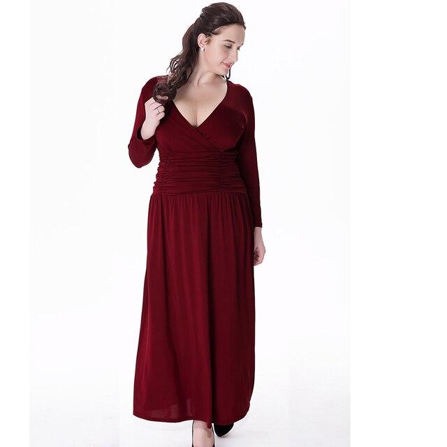 Lange jurk maat 54