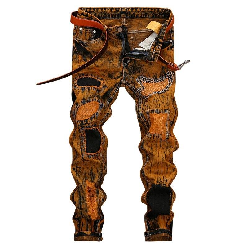High Quality Biker Jeans Mens Fashion Patch Men's Jeans Slim Fit Jean Men Biker Jeans with Zippers Comfortable Hip Hop Clothing men s cowboy jeans fashion blue jeans pant men plus sizes regular slim fit denim jean pants male high quality brand jeans