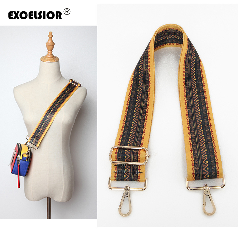 EXCELSIOR 2019 Crossbody Bag Strap High Quality PU Leather New Arrivals Wide Handbag Strap Fashionable Decoration For Bag