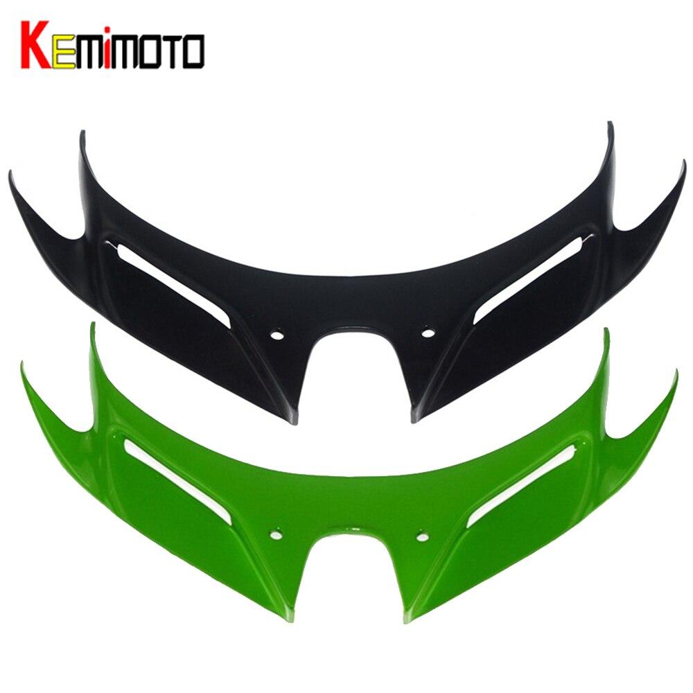 For Ninja 250 400 Motorcycle Front Fairing Aerodynamic Winglets ABS Protection Guards Cover For KAWASAKI NINJA