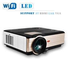 Caiwei ЖК-дисплей светодиодный проектор 4000 люмен Мини смартфоны Android WIFI Проектор аудио-видео ТВ домашний кинотеатр proyectores