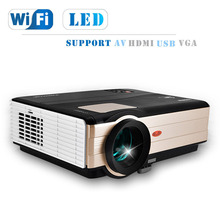 Sale CAIWEI  LCD LED projector 4000 lumens mini smart Projector Android WiFi Projector Audio Video TV home movie theater proyectores