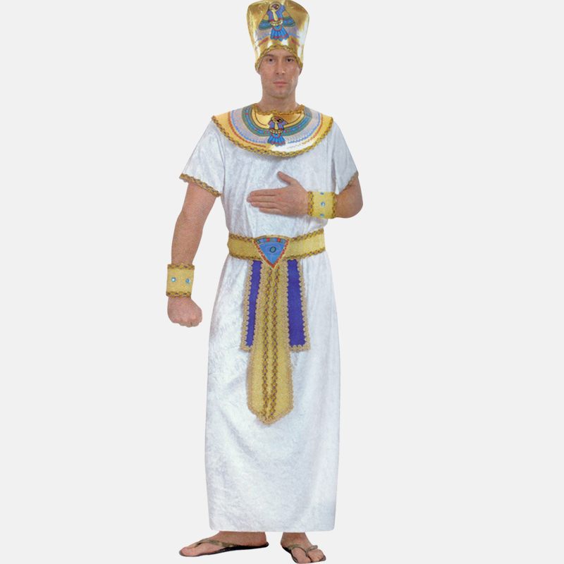 Free shipping cosplay Halloween costume colorful national costumes Egyptian pharaoh cost ...