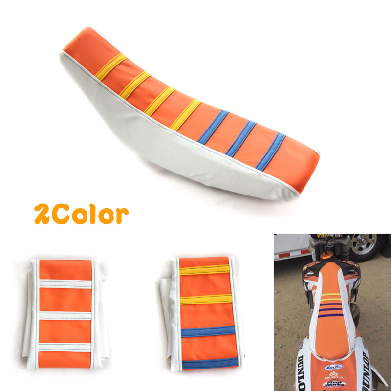 New Universal Motorcycle Seat Cover Motorbike Soft Striped Skid Resistant Seat Case For Off-road Motorcycle Refitting