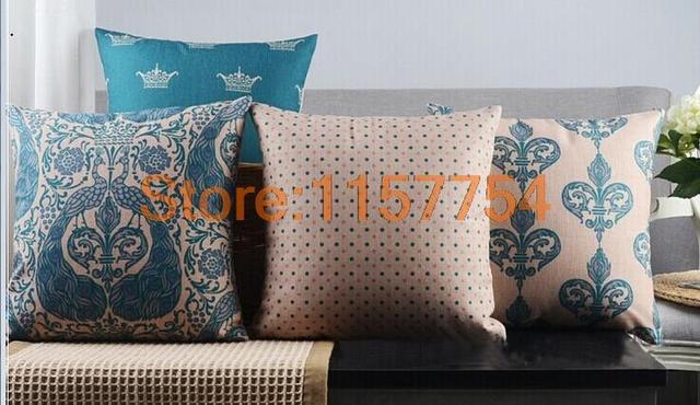 Kussen Voor Bank : Nordic stijl decoratieve kussenhoes woondecoratie blauwe pauw