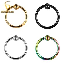 G23 Titanium Captive Bead Ring Navel & Bell Button Rings Lip Labret Nose Universal Body Piercing Jewelry