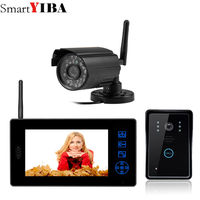 Smartyiba 7 Цвет видео телефон двери беспроводной Видеодомофоны Домофон домофона ИК Ночное видение два Камера комплект