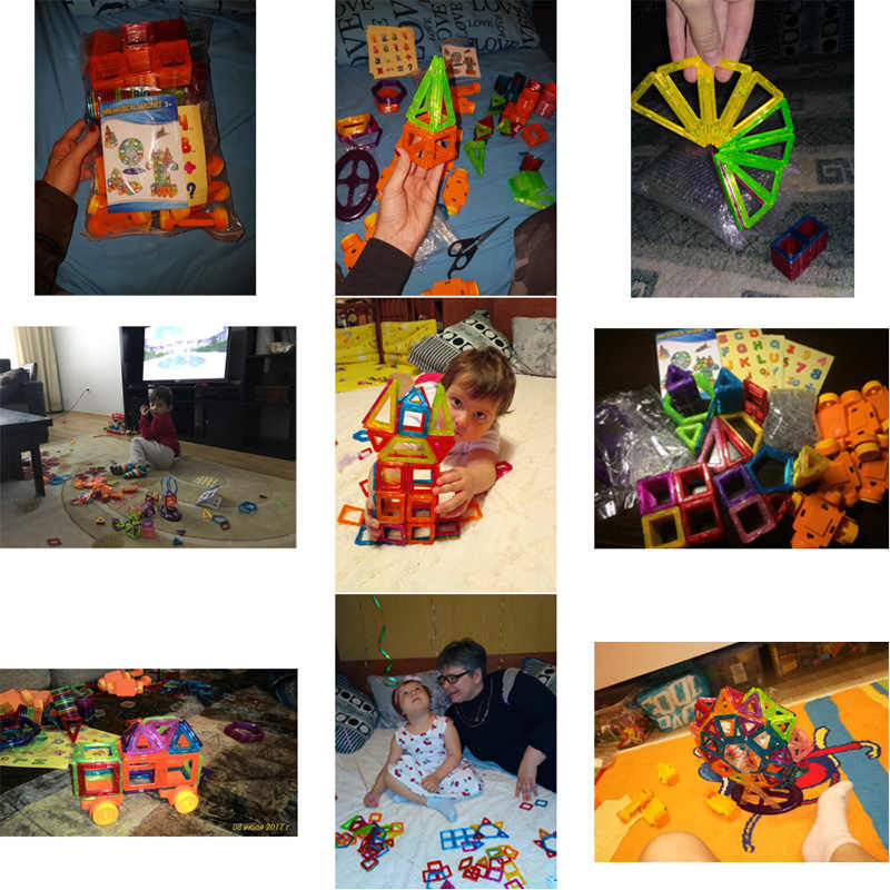 KACUU 190 sztuk Mini układanki magnetyczne bloki Model i zabawki do budowania plastikowe Magnent zabawki konstruktor edukacyjne zabawki dla dzieci prezent