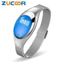 Сердечного ритма Bluetooth Smart Браслет Фитнес трекер Браслет ZB94 Приборы для измерения артериального давления кислорода здоровья импульса Мониторы группа для Для женщин