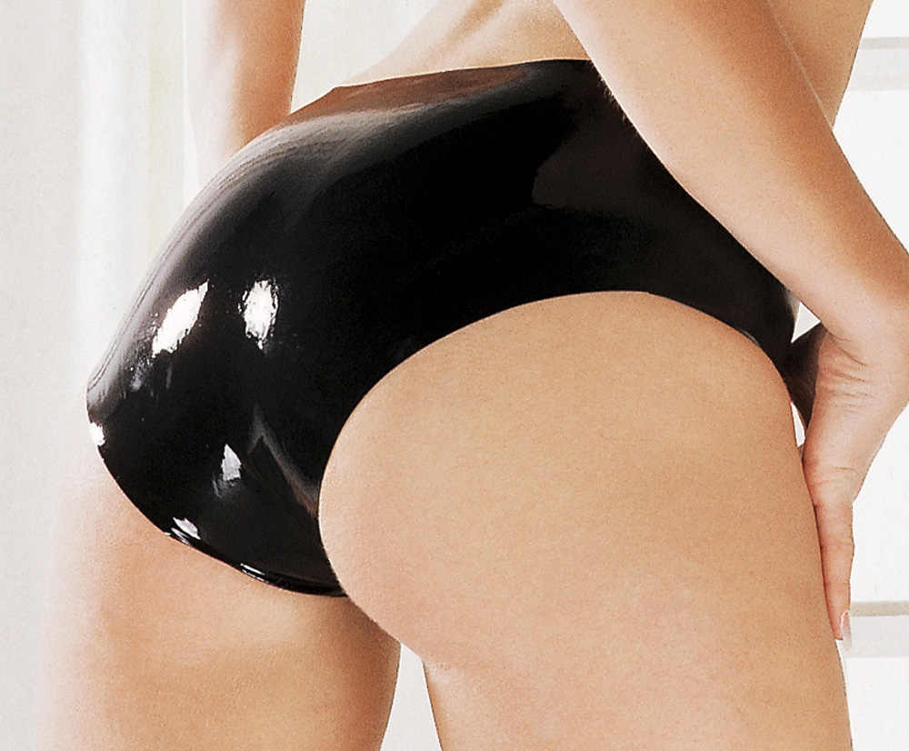 Women in latex panties fetish