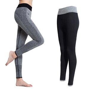 2018 الربيع-الخريف المرأة طماق اللياقة البدنية عالية الخصر النساء مرنة طماق تجريب سروال ضيق