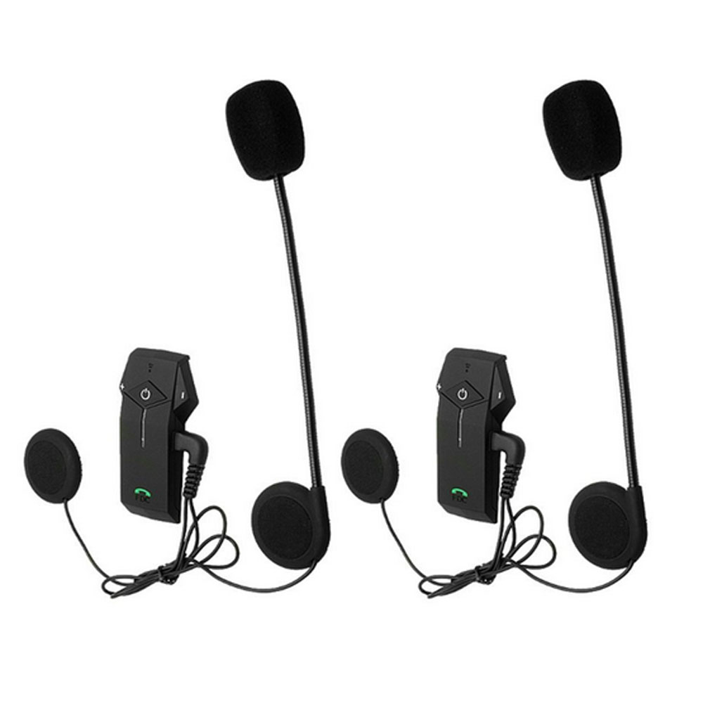 FreedConn 2pcs Waterproof BT Wireless Interphone 1000m for Motorcycle Helmets Handsfree Bluetooth Headset Intercom with NFC FM