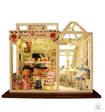 Free Shipping Diy doll house sweet birthday gift handmade mini assembling toys model building wooden dollhouse