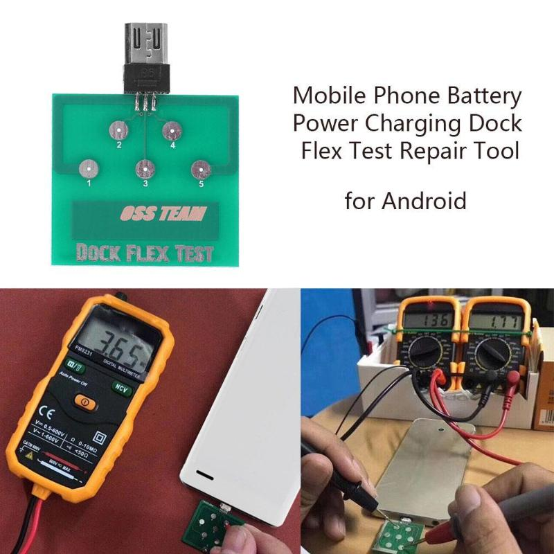 Alloet Professional Mobile Phone Battery Power Charging Dock Flex Dock Plug DetectionTest Repair Tool  For IPhone Android Phone