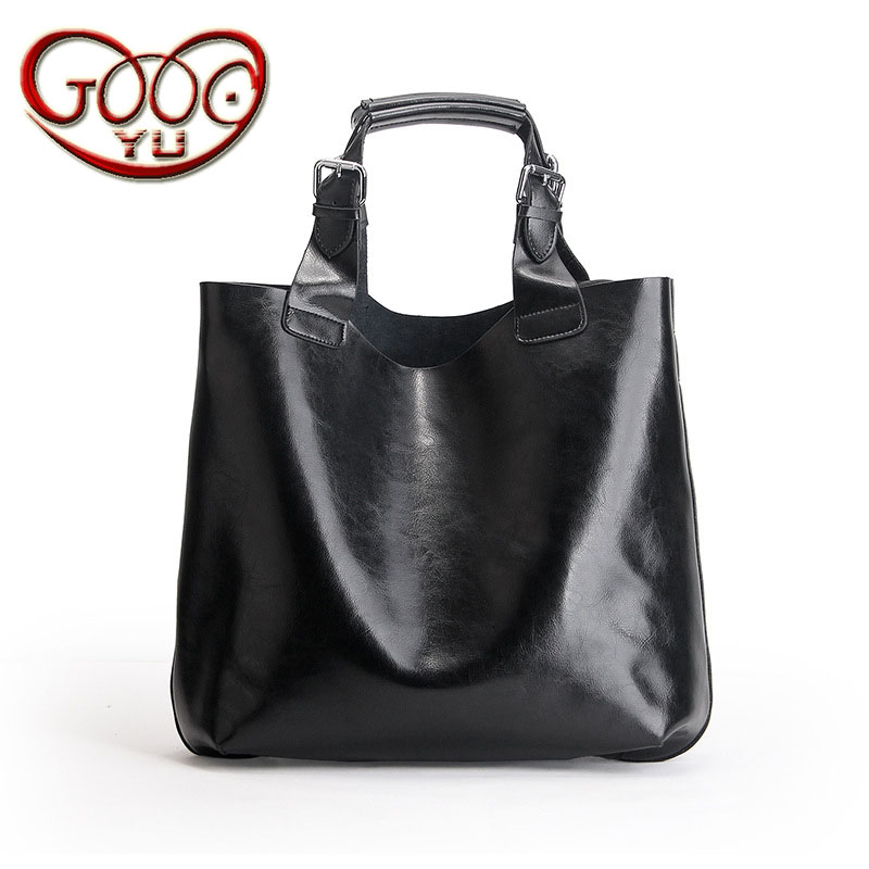 New vertical leather handbags Europe and the United States large-capacity fashion leather bag shopping bag shoulder hand bag 2017 new leather handbags tide europe and the united states fashion bags large capacity leather tote bag handbag shoulder bag