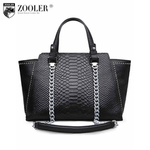 limited edition 2017 ZOOLER Serpentine grain genuine leather Bags for women Handbags Women Famous Brand women