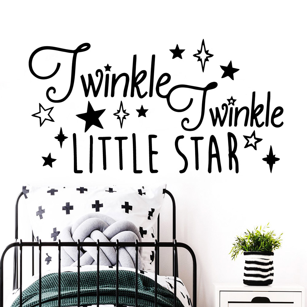 Funny quote Wall Stickers Modern Interior Art Decoration For Kids Rooms Nordic Style Home