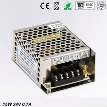 24V 0.7A MS-15-24 MINI led driver, mini switching power supply,min power switch,mini size smps with overload protection стоимость