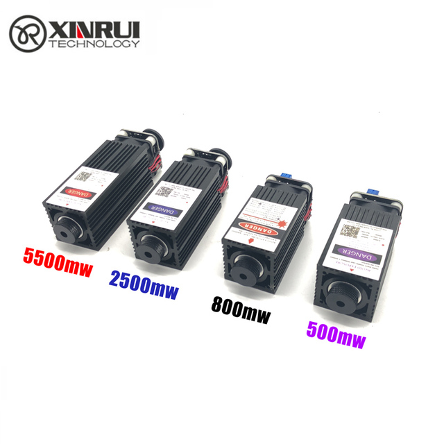 500 mw/800 mw/2500 mw/5500 mw 405/450NM focalisation bleu violet laser module gravure sur bois, pwm TTL contrôle laser tube diode + lunettes