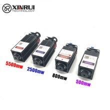 500mw/800mw/2500mw/5500mw 405/450NM ogniskowanie niebieski fioletowy moduł laserowy grawerowanie drewna, pwm dioda kontrolna TTL