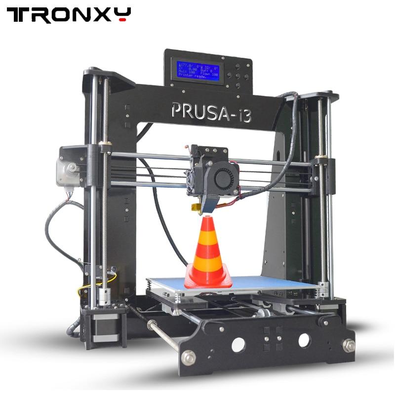 Newest Prusa i3 3D Printer kit DIY Aluminum Hotbed LCD Video high quality With free Filaments and 8GB card 3d printer parts 2017 newest tevo tarantula prusa i3 3d printer diy kit