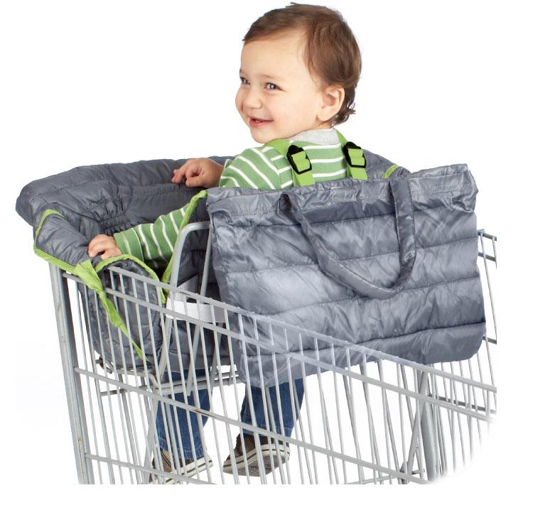 10 видов стилей серый чехол для детской тележки с рыбками, чехол для коляски, подушка для сиденья, детский чехол для стульев, защитная складная подушка в полоску - Цвет: Quilted Large Size