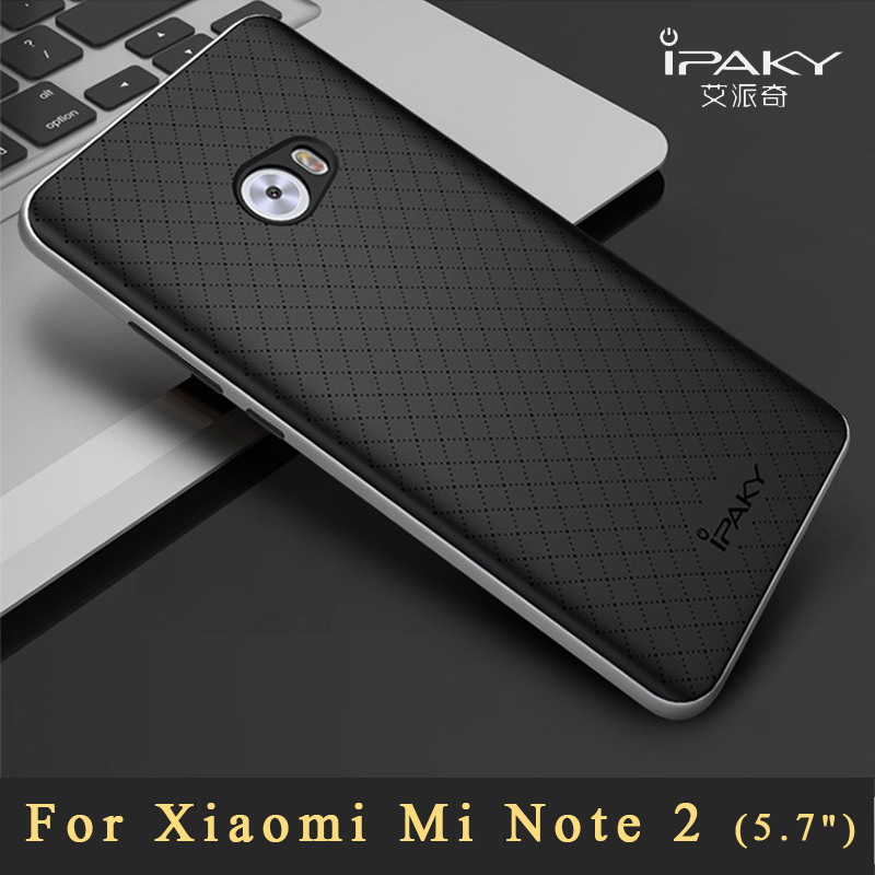 big sale 0490e 2a06a US $4.99 20% OFF|Xiaomi mi note2 Case Original ipaky Xiaomi mi note 2 pro  case Luxury Silicone Back Cover + Plastic Frame For Xiaomi note 2 cases-in  ...