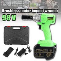 1Set 98V Cordless High Torque Lithium Ion Brushless motor Electric Impact Wrench 3 Speed Torque 520 3200r/min Nm