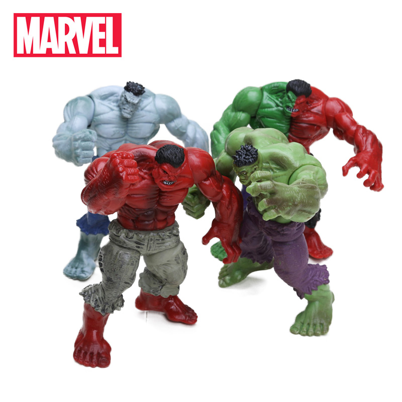 Pack of 4 Marvel Toys 12cm the Avengers Superhero Hulk Green Red Hulk PVC Action Figures Set Collectible Model Doll Toys(China)