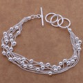Beautiful fashion silver  platedcharm Bracelet Gorgeous jewelry grape to  /afgaiwna brrakiya AH133