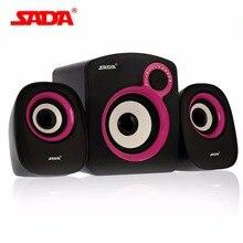 SADA Mini Stereo Speaker 3.5mm Audio Jack USB Powered Amplifier Speaker With Vice Speakers for Desktop PC Laptop Mobile Phone