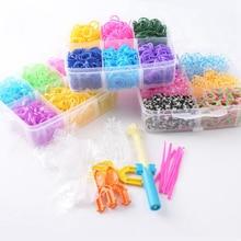 5400pcs DIY Toys Rubber Loom Bands Kit Kids Bracelet Silicone Bracelets Pendant Box Weave Charms