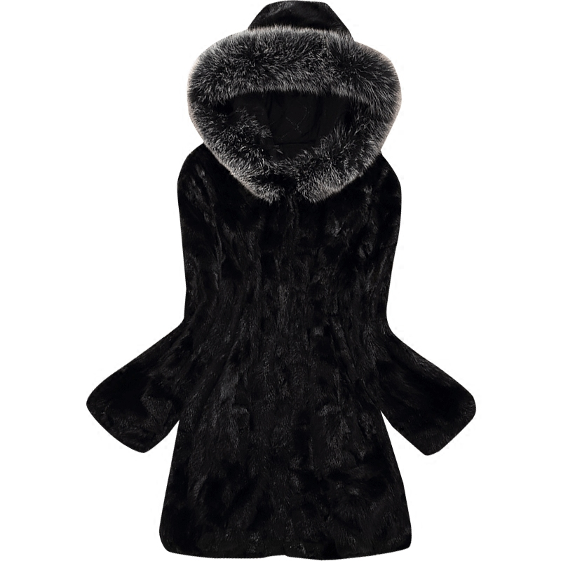 Manteaux Manteau De Col Femmes Morceaux Capuchon Nouvelle Black 2018 Renard À Survêtement Longue Argent Vison Fourrure qfT1BRwtx