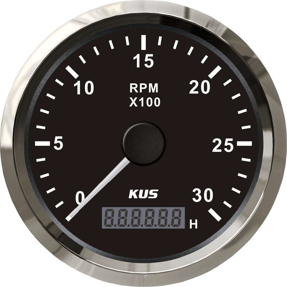 Kus 85mm Vdo Analog Autometer Marine Tachometer Rpm Gauge 3000rpm Auto Tach Wiring With Hourmeter 12v 24v Backlight In Tachometers From Automobiles Motorcycles On