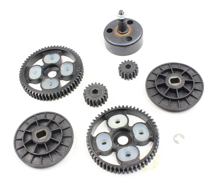 Baja NEW- Clutch Bell and 58T/16T and 55T/19T Metal Gear Set for 1/5 hpi baja parts km rovan 85105 rovan baja cnc gear box assembly gear component differential general hpi