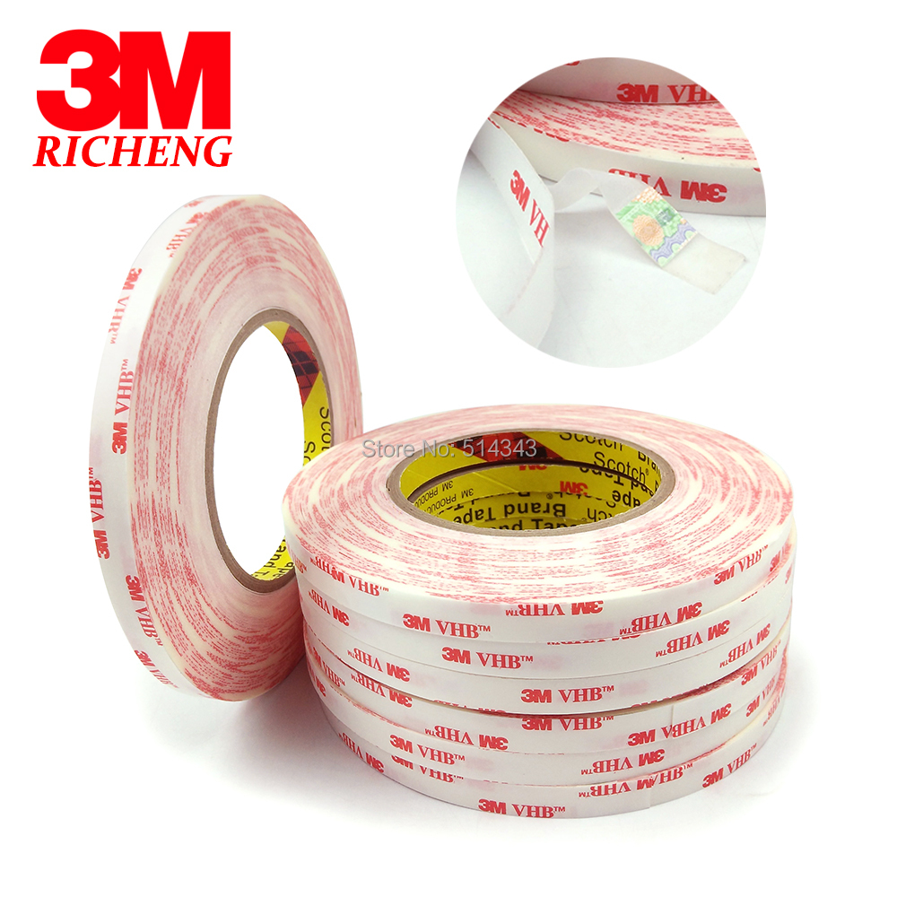 100% Original 3M VHB 4914 White Color Double Sided Adhesive Foam Tape/12MM*33M/1rolls/lot 1piece 3m vhb 5952 heavy duty double sided adhesive acrylic foam tape black 150mmx100mmx1 1mm