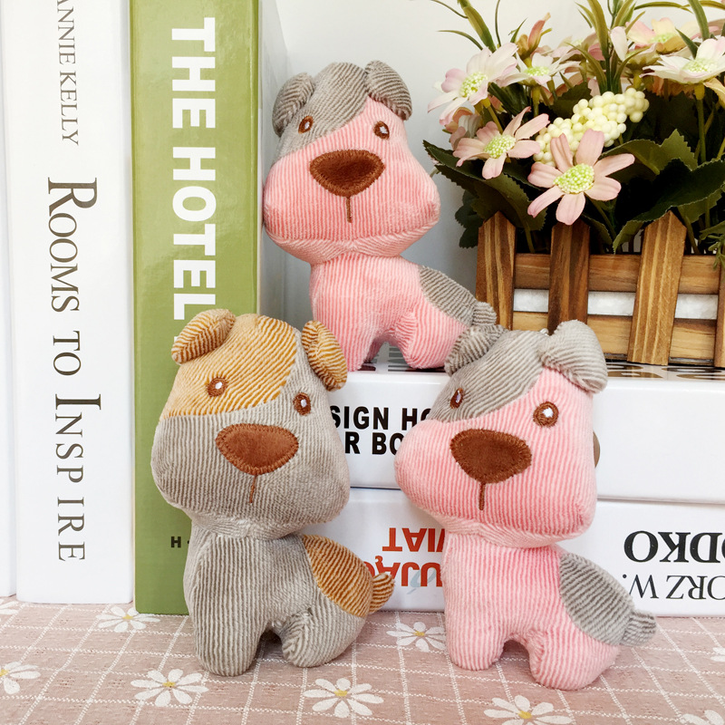 1pc 13cm Cute Plush Dog Pendant Staffed Animal Dog Plush Toy Kawaii Dog Bag Pendant Key Chains for Girls Gift