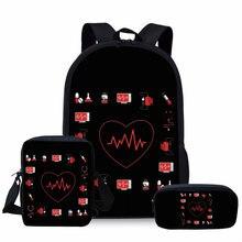 Школьные сумки noisydesign для детей 3 шт/компл с принтом в