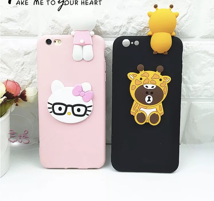 91a6f41452 KT Bear 3D Dolls Cases For Oppo F7 Mobile Phone Bags&Covers Carton Soft TPU  Case For Oppo f5 Capas Fundas Cases