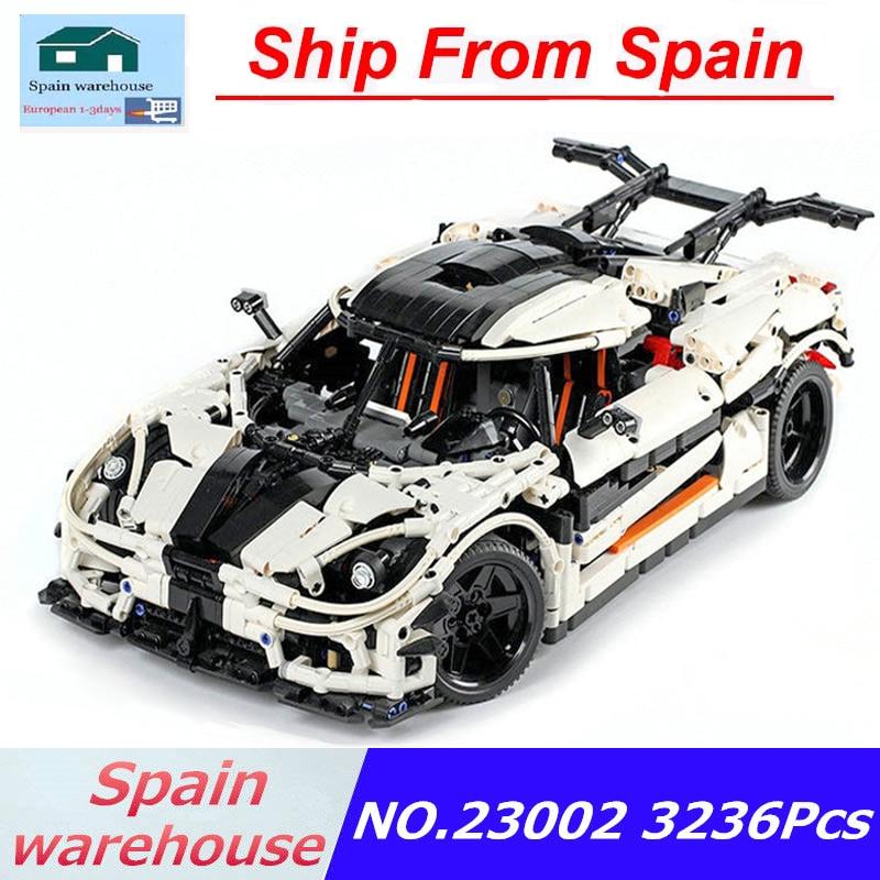 23002 23006 Super Sports Racing Car Model Building Blocks Kits City Racer Technic Car Toys Children