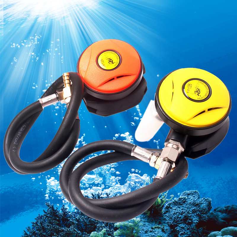 Yellow/Orange 2nd Stage Adjustable Regulator Explorer Diving Divetwo Diving Regulator Stage Octopus Hookah With Mouthpiece