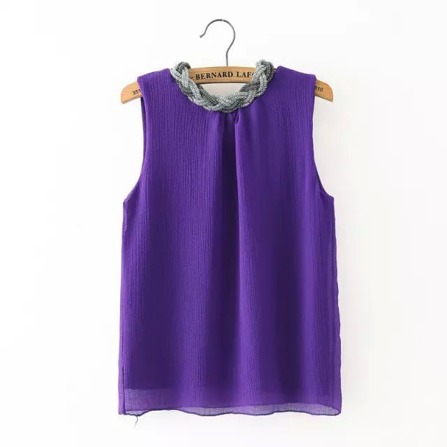 b52eb67477 elegant ladies purple chiffon top 2015 new fashion shirts cute bling  beading t shirt women green summer style tops uk 7 clothes