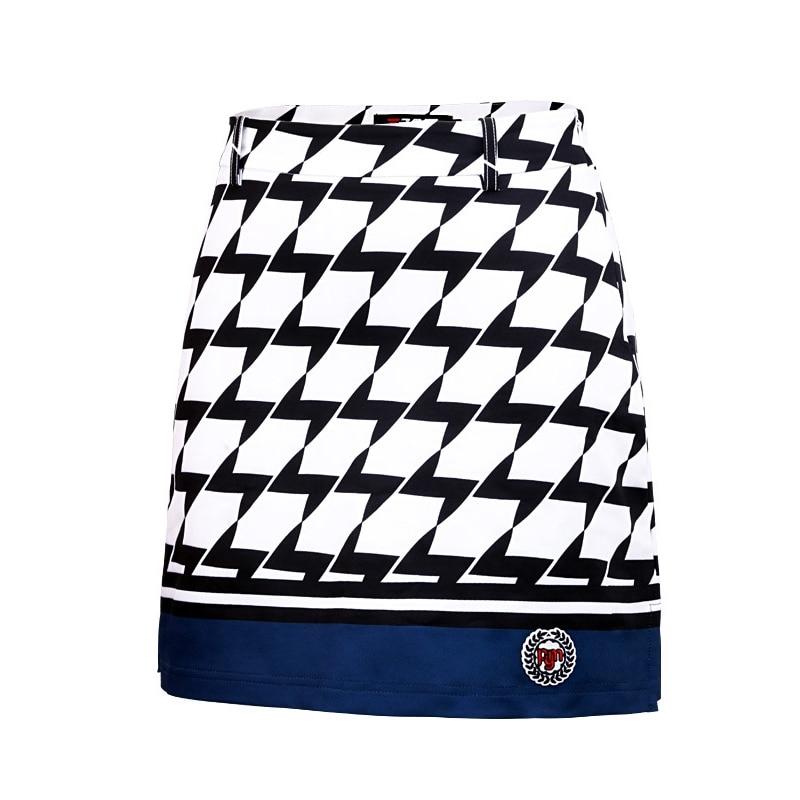 цена на PGM Golf Skirt for Women Patchwork Nylon Summer Breathable Ladies Golf Clothing Tennis Sports Skirts Women Golf Wear Skirt