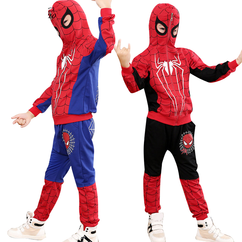 Children Clothing Autumn Winter Toddler Boys Clothes Sets Spiderman Costume Kids Clothes For Boys Clothing Suit 3 4 5 6 7 Year 9