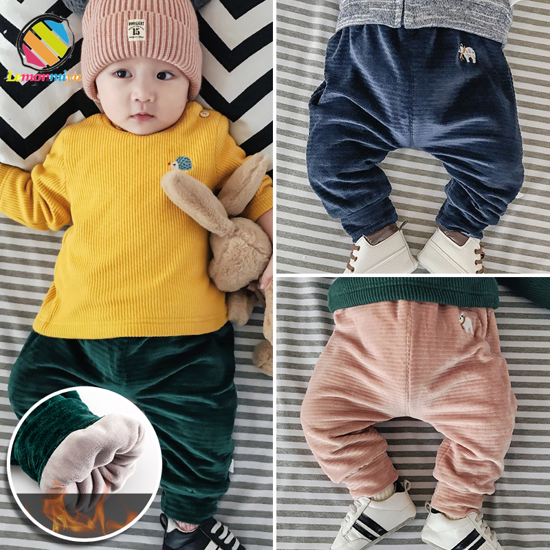 Lemonmiyu Trousers Long-Pants Baby Winter Pantalon Girls Boy Warm Thicken Diaper Cashmere