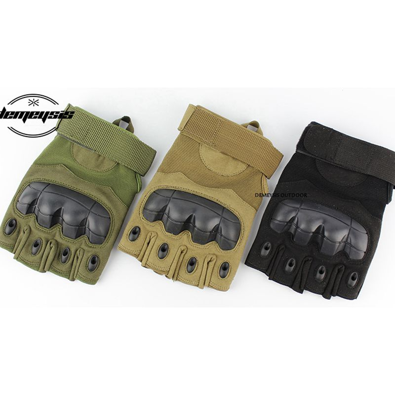Tactical Half Finger Gloves Military Army Hiking Cycling Paintball Shooting Non-slip Tactical Gloves Fighting Combat Gloves